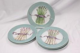"""Williams Sonoma Japan Asparagus Salad Side Plates 8.25"""" Set of 6 - $41.65"""