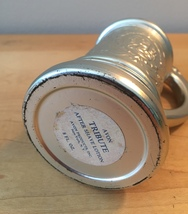 70s Avon Silver Beer Stein after shave bottle with handle (Tribute) image 3