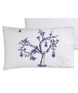Navy Blue Oak Tree Bird Cage Pillowcase - $11.99