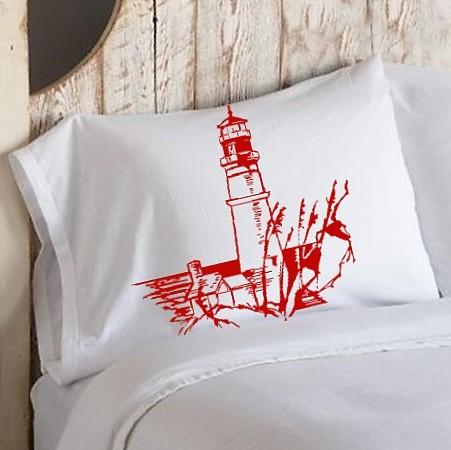 Red light house pillowcase