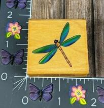 Comotion Dragonfly Rubber Stamp 1996 Swamp Bug Wood #B31 - $3.22