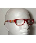 Fruit Stripes Fashion Reading Glasses Red Candy Stripe Temple Unisex +2.... - $9.79