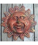 Large Smiley Sun concrete plaster wall plaque mold - $35.00