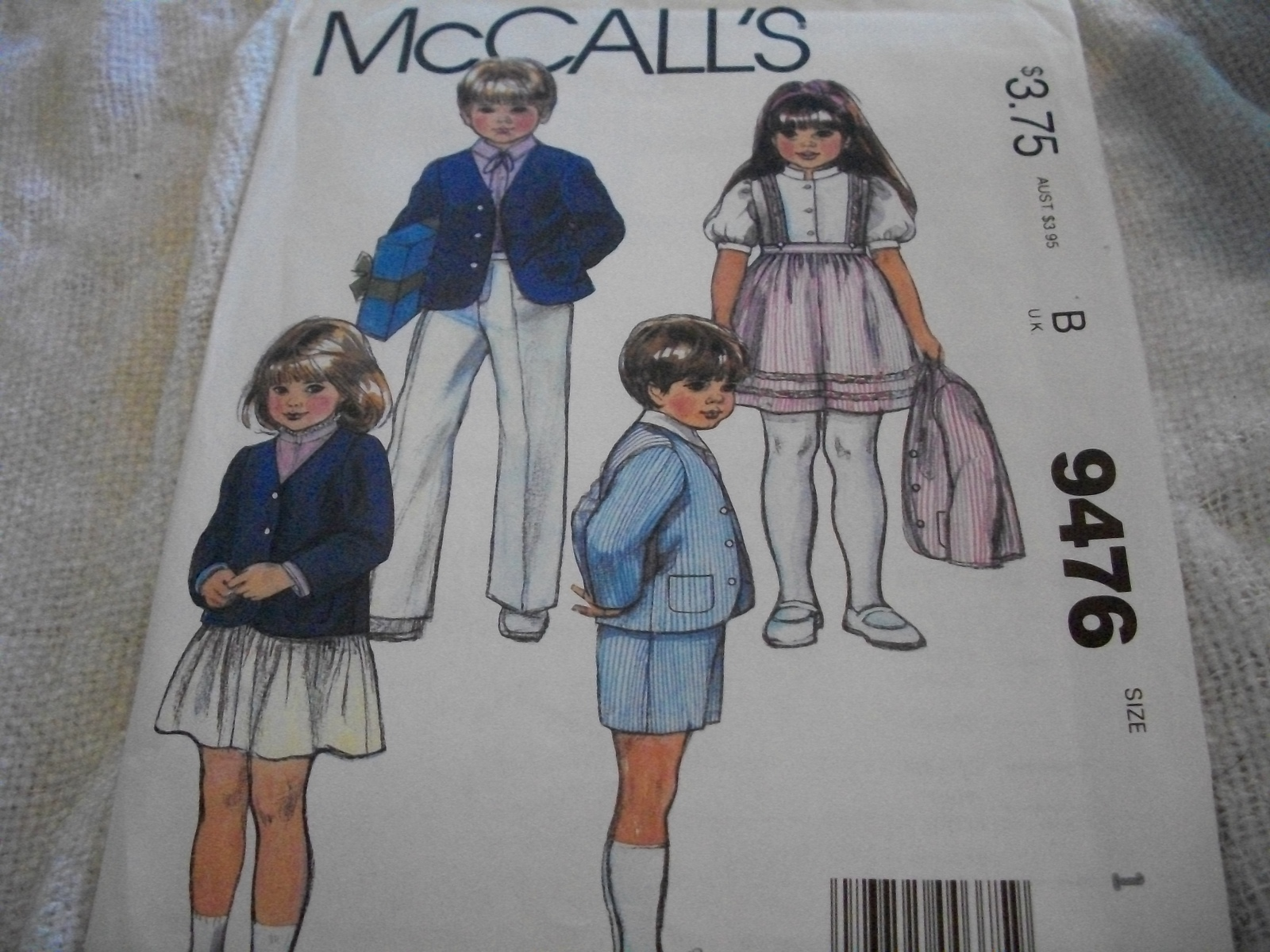 Primary image for Toddler Jacket, Skirt & Pants Pattern McCall's 9476
