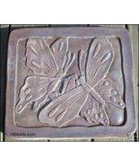 Butterflies concrete plaster cement stepping st... - $26.95