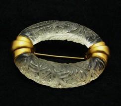 Vintage Classic Anne KLEIN Carved Lucite Brooch Pin Designer - $69.99