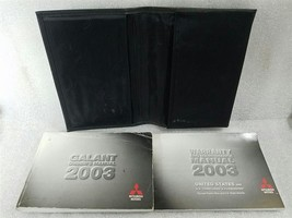 Owners Manual Set With Case For 2003 03 Mitsubishi Galant 2.4L 3.0L 14472 - $16.92