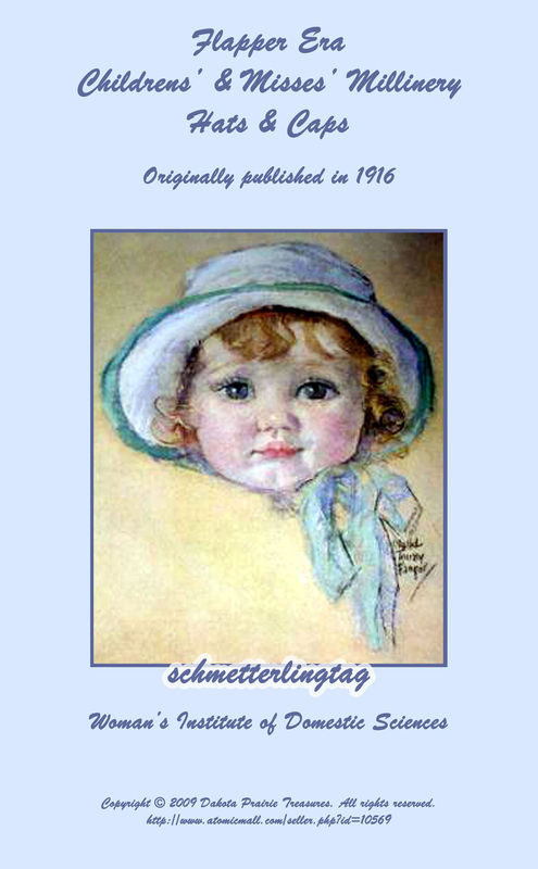 1916 Millinery Book Make Childrens Hats Caps Bonnets Titanic WWI Milliner Guide
