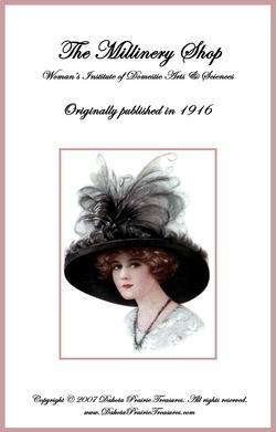 1916 Titanic Era MILLINERY Book Shop Hat Making Your Store Shop Milliner Guide