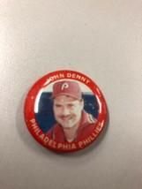 John Denny Phillies Fun Foods MLB Baseball Button Badge Pin Pinback Vintage - $4.31
