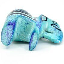 Crafts Caravan Hand Carved Aqua Blue Soapstone Elephant Figurine Made in Kenya image 5