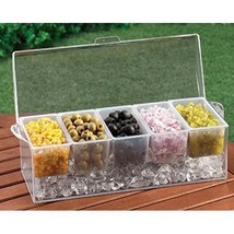 Chilled Condiment Servers Compartment Ice Tray ... - $36.29