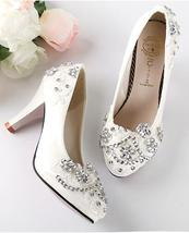 Women Rhinestone Bridal Pumps,Lace wedding Pumps,bridesmaid Heels uk 3,4... - $39.99