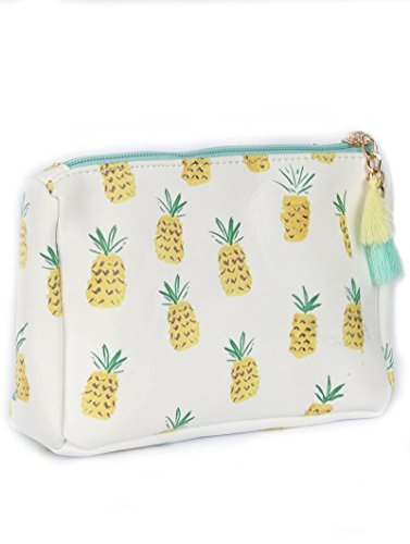 Pineapple Print Tassel Cosmetic Makeup Bag or Pouch Wallet