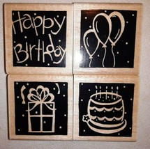 Close To My Heart JRL Designs BIRTHDAY Wood Mounted Rubber Stamps - $12.86