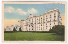 St Mary's College University Winona Minnesota linen postcard - $6.44