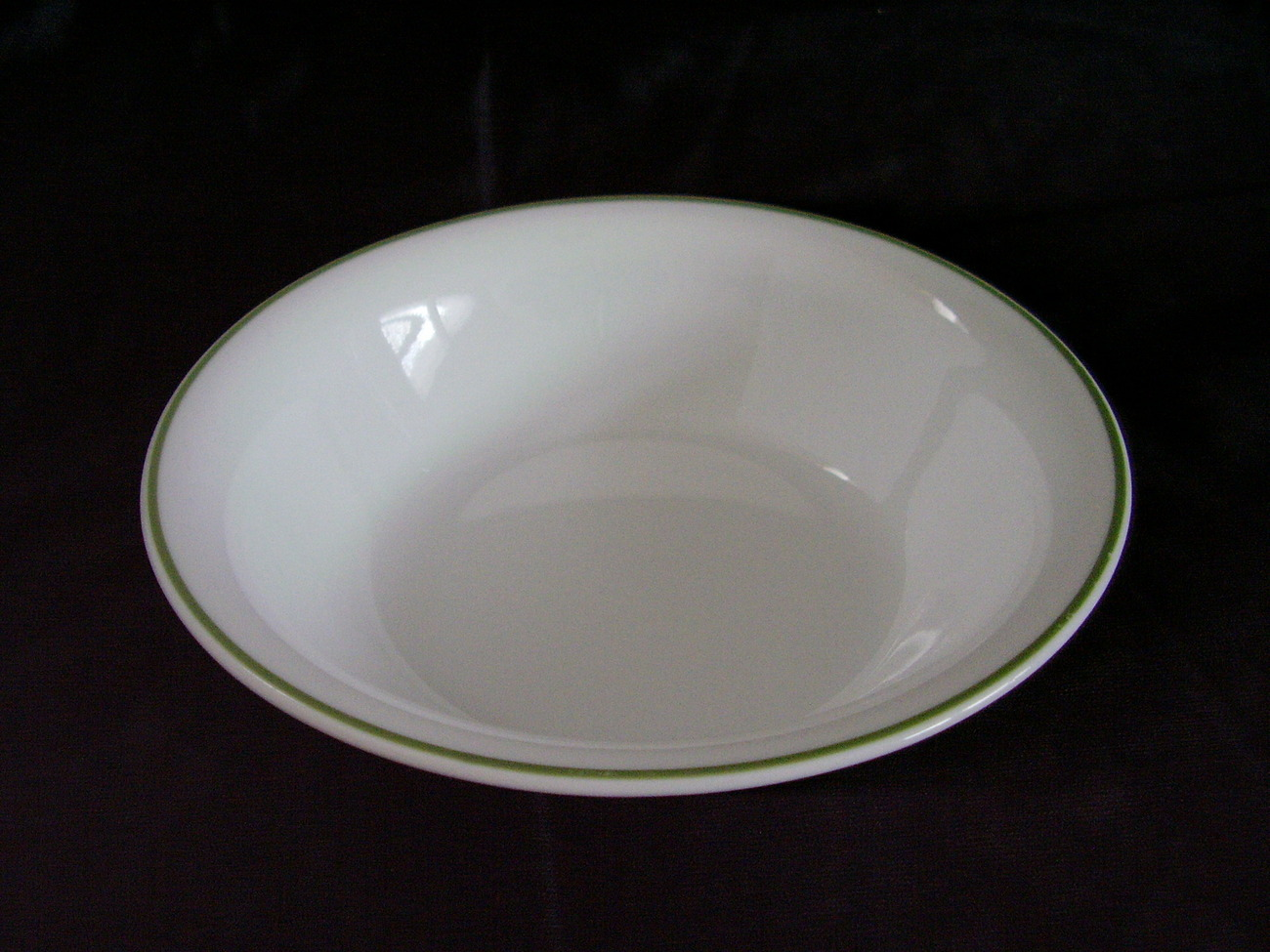 Corelle White Green Band Soup Cereal Bowl