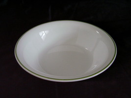 Corelle White Green Band Soup Cereal Bowl - $3.00