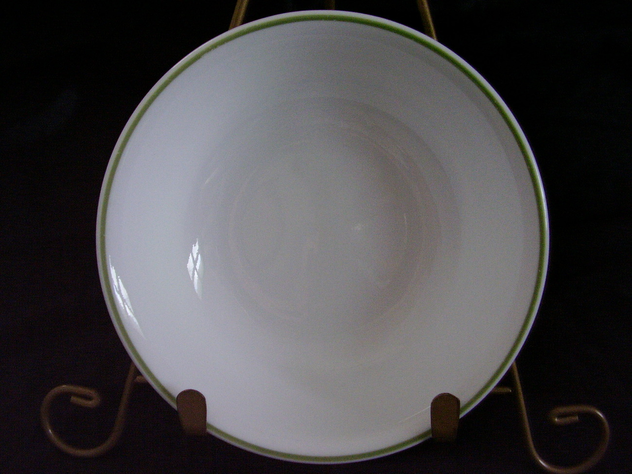 Corelle White Green Band Fruit Bowl