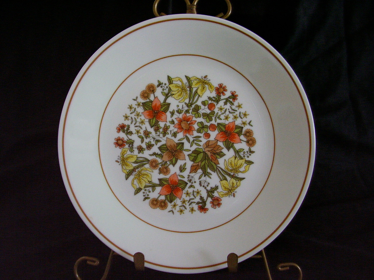 Corelle Indian Summer Lunch Plates Autumn Brown