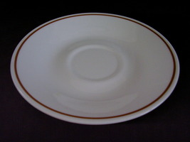 Corelle Indian Summer Saucers White Brown Band  - $2.00