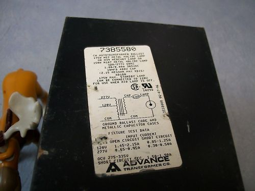Advance 73B5580 Transformer Ballast w/Aerovox Capacitor