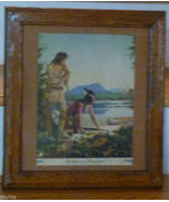 Antique Print Deerslayer & Chingachgook Fenmore Cooper - $75.00