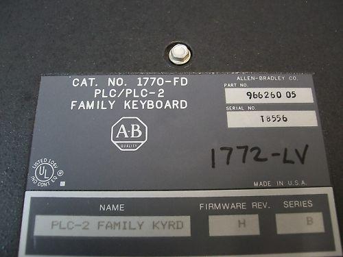 1770-FD 966260 Allen Bradley 1770-FD 966260 05 PLC 2 Keyboard