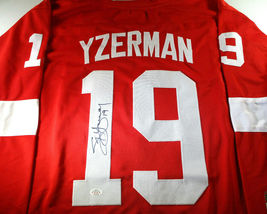 STEVE YZERMAN / AUTOGRAPHED DETROIT RED WINGS CUSTOM HOCKEY JERSEY / COA