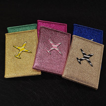 Glitter Air Plane Airsoft Glossy Lady Girly Passport Protection Cover Ca... - £7.04 GBP