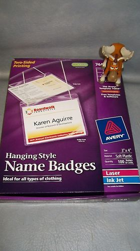 "Avery Hanging Style Name Badge 74459 3"" x 4"" Box of 100"