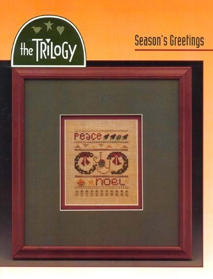 Seasons Greetings holiday cross stitch chart The Trilogy