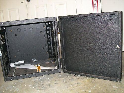 "Black 21"" x 22"" x 19 1/2""  Enclosure vented Double Door"