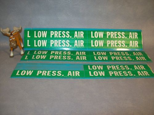 Brady Co. 37114   LOW PRESS. AIR Pipe  Markers Lot of 5