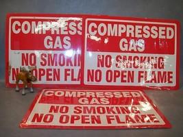 COMPRESSED GAS NO SMOKING ...... Lot of 3 Sign Emedco - $50.17