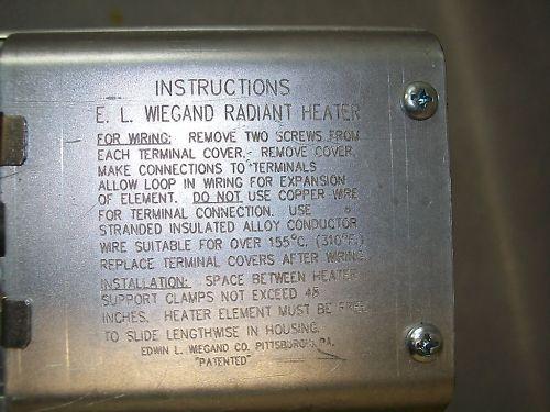 Chromalox RAD 63038 Single Element Radiant Heater