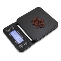 Digital Kitchen Food Coffee Weighing Scale + Timer(BLACK) - $22.83