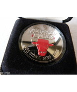 1996 NBA Champions Chicago Bulls Silver Coin Highland Mint Limited Edition - $124.98