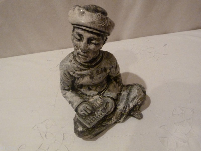 Primary image for Asian Japanese Man Stone Statue Unusual Art Work