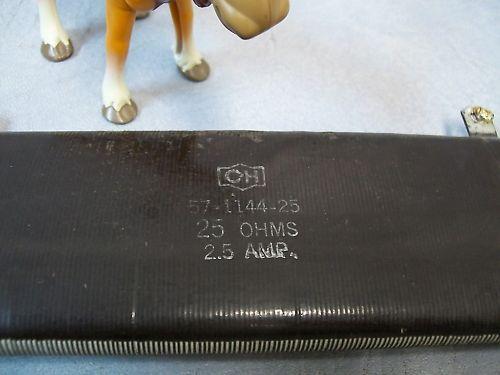 Cutler Hammer 57-1144-25 25 OHMS 2.5 Amp Reistor