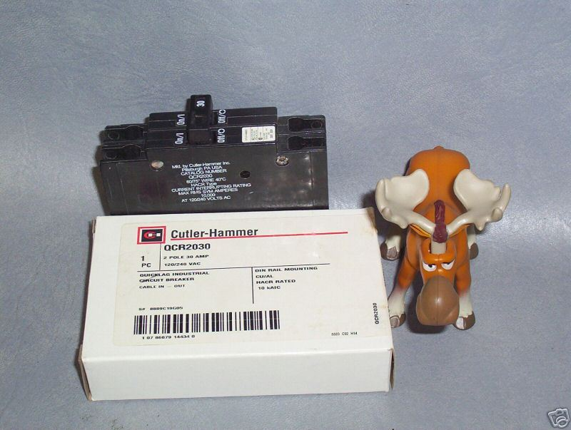 Cutler Hammer Quicklag Circuit Breaker QCR2030 30A