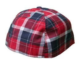 Dissizit Dx11 Bones Navy Red Plaid New Era 59FIFTY Fitted Baseball Hat Cap NWT image 4
