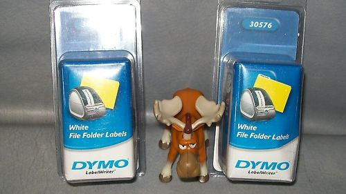 "Dymo White Folder Labels 30576 9/16"" x 3-7/16"" Lot of 2"