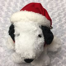 Snoopy Peanuts Hallmark Medium Christmas Holiday Stuffed Plush as Santa Bell Hat image 5