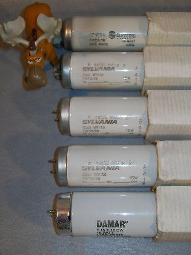 F15T12-CW Flourescent Lamp Lot of 5 GE Damar Sylvania