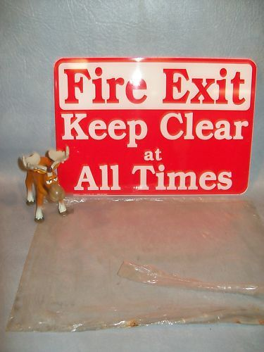 """Fire Exit Keep Clear at All Times""  Emedco 35302 Sign"