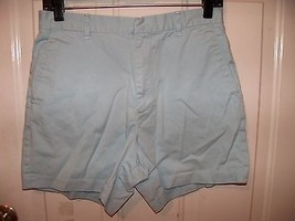 J.CREW Flat Front CHINOS Shorts Light Blue SIZE 6 WOMEN'S EUC - $17.01
