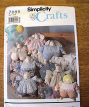 S7089 Fat Cat Bunny Lamb Doll Animals and Clothes Pattern - $6.99