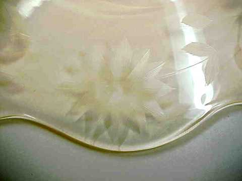 Vintage Lancaster JUBILEE  Yellow Glass SALAD PLATE-7 Inch