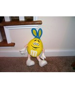 """YELLOW M&M Plush Guy with Rabbit Ears for EASTER 13"""" Tall - $14.96"""